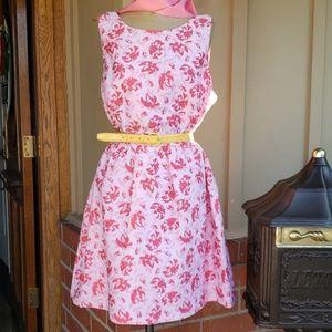 Kensie pink floral dress size XL